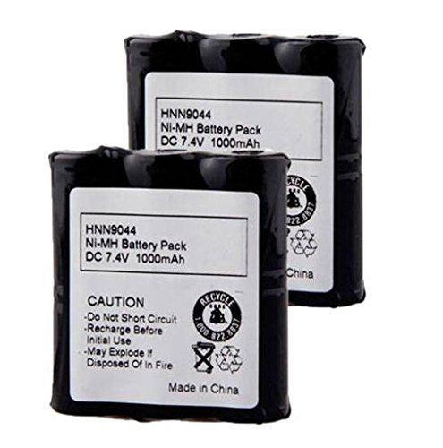 1000mAh 7.4V Ni-MH Battery Replacement for Motorola Radio HNN9044 HNN9044A HNN9044AR HNN9056A HNN9233A P10 P50 P60 SP10 SP50 HT10 SV10 SV11 SV11D SV21 SV12 SV22 (2 Pack)