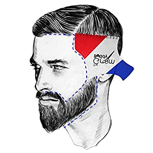 Hair Shaping Tool Styling Template by The Groom Buddy for Men's Hairline and Beard - Perfect Symmetric Lines and Trims for Men. Flexible Tool for a Beard Mustache Goatee Side Burns Neck Line ups