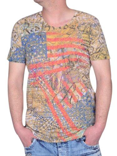 Redbridge / Cipo & Baxx Herren Rundhals T-Shirt Shirt 2037 mustard Größe XL