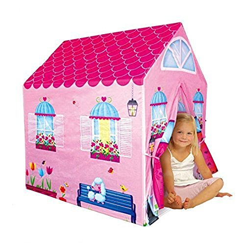Cottage Playhouse Girl City House Kids Secret Garden Pink Play Tent < Material: 100% Polyester fabric & Plastic pole - City Playhouse House Girl Cottage
