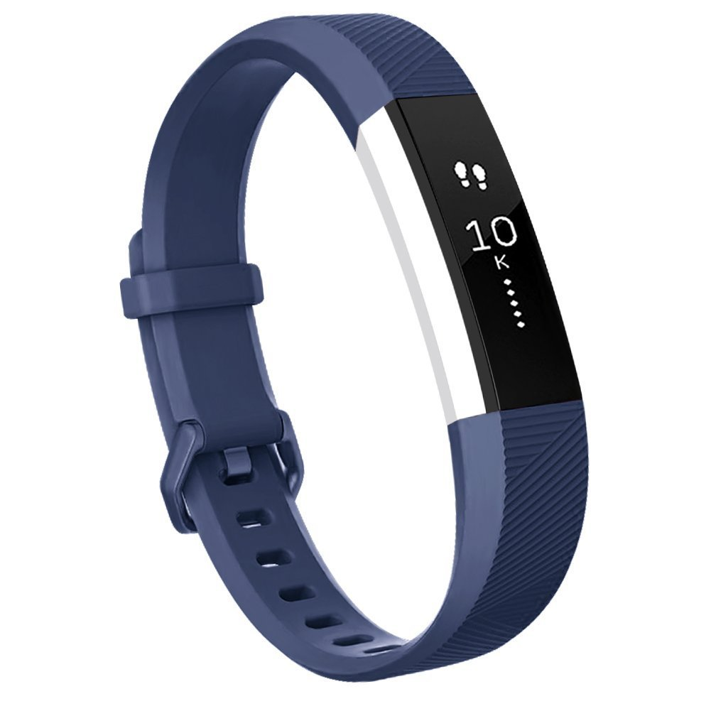 For Fitbit ALTA HRバンド、交換用リストバンドストラップ安全なメタルバックルfor Fitbit ALTA HR / Fitbit ALTA Small Largeサイズブラック ブルー dark blue-S dark blue-S B076GC7P26