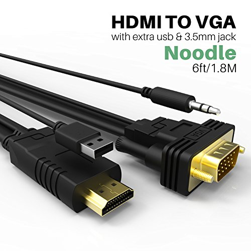 NewBEP HDMI to VGA Cable Adapter with Audio Cord and USB, 1080P HD 6ft/1.8m HDMI Male to VGA Male Converter Cord Support Apple Mackbook Sony PS2 PS3 PS4 Xbox Notebook PC DVD Player Laptop TV by NewBEP (Image #7)