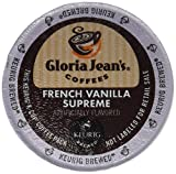 Gloria Jean's Coffees, French Vanilla Supreme, K-Cup Portion Pack for Keurig K-Cup Brewers, 24-Count (Pack of 2)