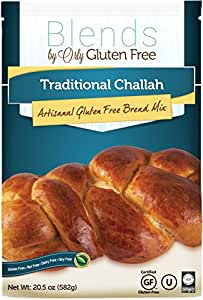 Gluten Free Traditional Challah Mix - Baking Mix for Gluten Free Challah Bread, Gluten Free Traditional Challahs, Nut Free, Dairy Free, Soy Free from Blends by Orly 20.5 OZ