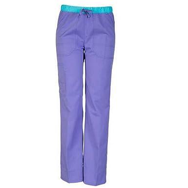 a2c73460928 ScrubStar Women's Fashion Collection Rayon Drawstring Scrub Pant (XX-Large,  Purple Showers)