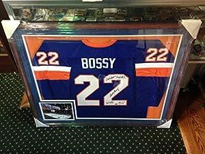 Mike Bossy Islanders multi signed 5 Auto framed jersey Trottier Gillies Steiner