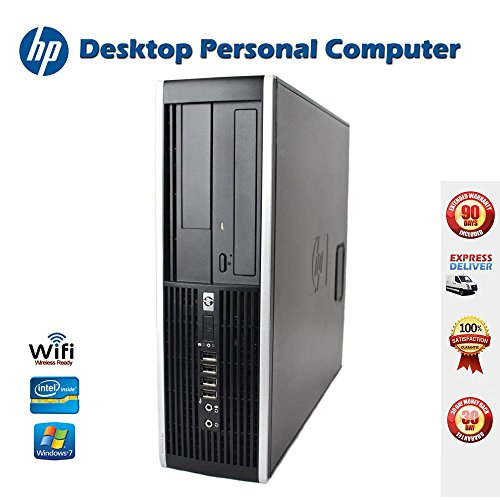 HP Elite 8000 SFF Desktop Complete Computer Package with Intel Core 2 Duo 3.0GHz - 8GB RAM - 250GB HDD- DVD ROM- Windows 7 Pro 64-Bit - Keyboard, Mouse + WiFi USB Adapter (Renewed)