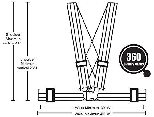 Meyerglobal Reflective Vest, High Visibility, Safety Adjustable Belt Regular Size (10piecesGreen, Regular Size) by Meyerglobal (Image #3)