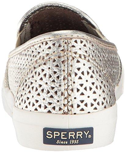 Sperry Top-sider Vrouwen Kust Nautische Perf Sneaker Platina