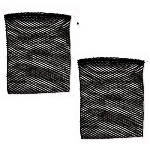 Snap-Loc Nylon Mesh Storage Bag 17''X22'' 2 Pack With See-Through And Breathable With Cinch Rope Closer SLANSBM1722B2