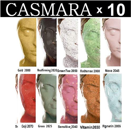 10X CASMARA Mask Premium Package (10 Multi Colors) + 1 Mixing Spatula and 2 Korean Skincare Samples (10 COLORS)