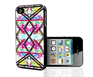 Pink Floral Background with Black Tribal Arrows Hard Snap on Phone Case (iPhone 4/4s)