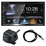 Kenwood DDX6703S 6.2'' Inch Touchscreen Double-DIN CD DVD Player Car Stereo Receiver Bundle Combo With Rearview Wide Angle View Parking Backup Camera, Enrock 22'' AM/FM Radio Antenna