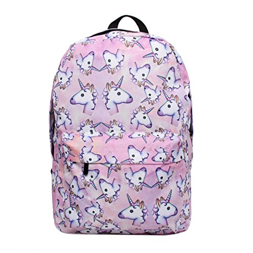 XMCOWAYOU Unicorn Backpack 3D Printing Travel School Backpack for Teenage Girls