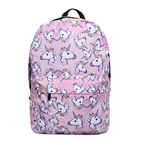 XMCOWAYOU Unicorn Backpack 3D Printing Travel School Backpack for Teenage Girls