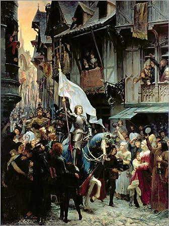 Lienzo 60 x 80 cm: The arrival of Joan d'Arc de Jean-Jacques Scherrer / Bridgeman Images - cuadro terminado, cuadro sobre bastidor, lámina terminada sobre lienzo auténtico, impresión en lienzo