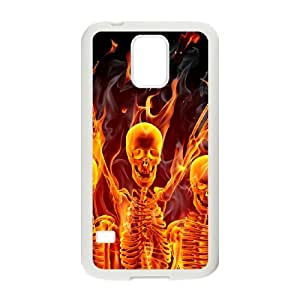 SamSung Galaxy S5 G9006V Fire skulls Phone Back Case Use Your Own Photo Art Print Design Hard Shell Protection TY037098