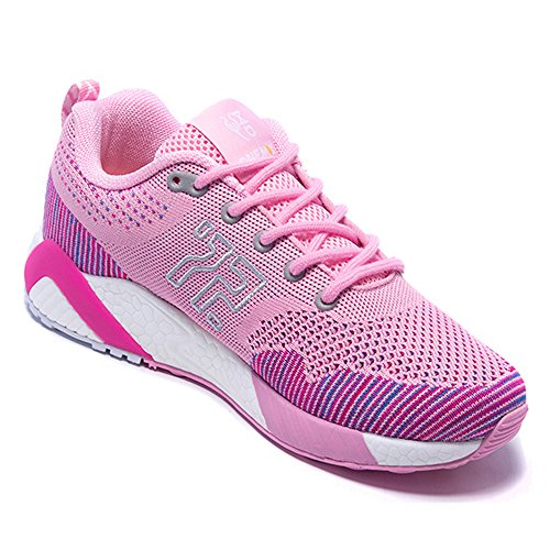 ONEMIX Men's Athletic Women Running Shoes Unisex Jogging Sneakers Pink/White 2lgB2u