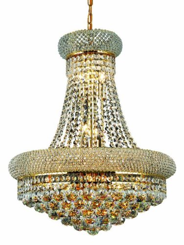 (Elegant Lighting 1800D20G/RC Primo 26-Inch High 14-Light Chandelier, Finish with Crystal (Clear) Royal Cut RC Crystal, 23.2