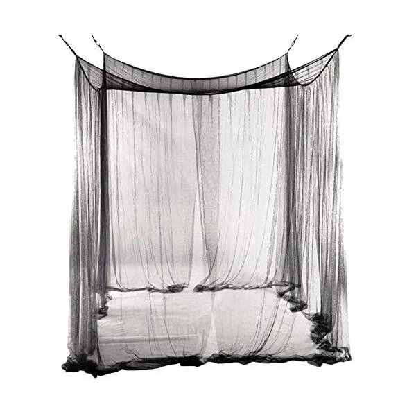 LinZX Mosquito Net Letto a baldacchino Corner 4 Telo Doppio Four Corner Room Decorazione appesa Mantovana,20.44 4 spesavip