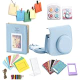 Minoniso 7-in-1 Fujifilm Instax Mini 8 Camera Accessory Set Bundle with Camera Case, Book Album, Color Lens Set, Selfie Lens, Wall Hanging Frames, Film Frame and Stickers