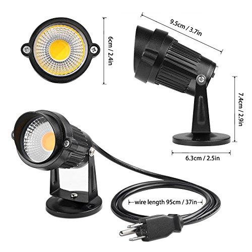 Lemonbest LED Landscape Up Down Light 5W White LED Decorative Spotlight Lamp 110V With Plug For ...