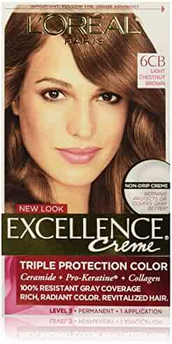 L'Oreal Paris Excellence Creme, 6CB Light Chestnut Brown, (Packaging May Vary)