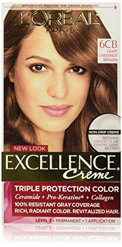L'Oréal Paris Excellence Créme Permanent Hair Color, 6CB Light Chestnut Brown