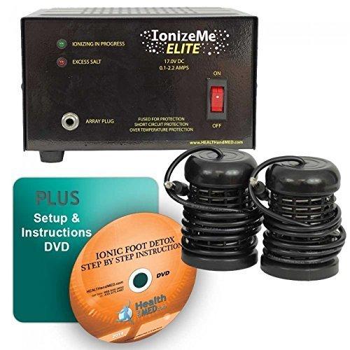 IonizeMe Elite Ionic Detox Foot Bath Spa Machine - 17.0V 2.2 Amps - 5 Yr Warranty by HEALTHandMED by IonizeMe