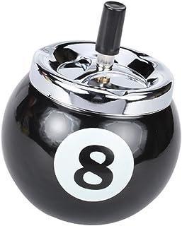 Homyl Cendrier à Bouton-Poussoir En Forme De Boule De Billard No.8