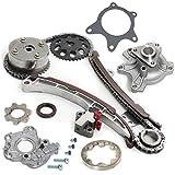 valve vvti toyota yaris - TK2000-VVTWPOP Brand New Timing Chain Kit W/ VVT-i Adjuster (Cam Sprocket Actuator) + Water Pump Set + Oil Pump Set for 1NZFE 1NZ-FE