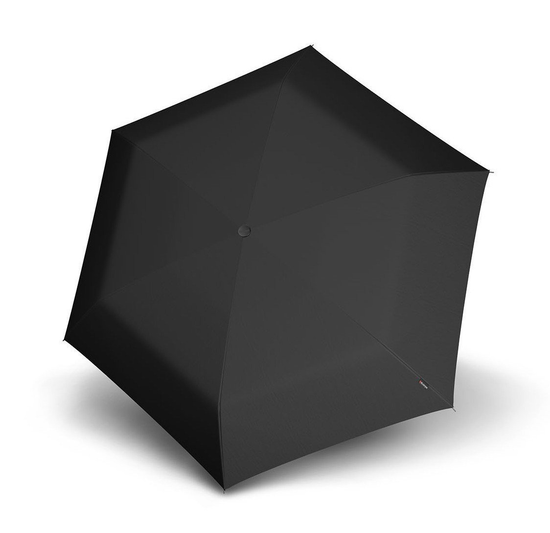Knirps 815-100 Compact Manual Open/Close Travel Umbrella, One Size (Black) by Knirps