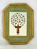 St. Francis with birds Florentine Plaque, 4.75x6inches. Made in Italy