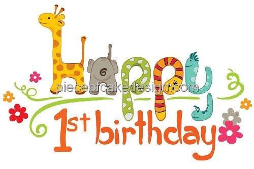 Zoo Birthday Cake - 7