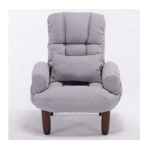 Amazon.com: TongN Single Fabric Sofa Lazy Couch Seat Bedroom ...
