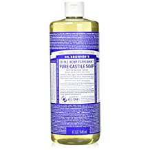 Dr BRONNERS Magic Soaps Pure-Castile Soap, 18-in-1 Hemp Peppermint, 32-Ounce Bottle