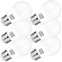 LOHAS A15 LED Bulbs, 40 Watt LED Light Bulbs Equivalent, Daylight 5000K, E26 Medium Screw Base, 450 LM Edison LED Bulb 5 Watt, LED Lights Not-Dimmable with Home Lighting Decorative, Pack of 6 Units