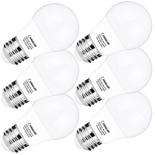 LOHAS A15 LED Bulb, 5W(40W Equivalent), Medium Base E26 LED Light Bulbs, Daylight White 5000K, 450LM LED Lights, LED Track Lighting, Not Dimmable LED Bulb For Home Decorative(6 Pack) (Base Refrigerator compare prices)