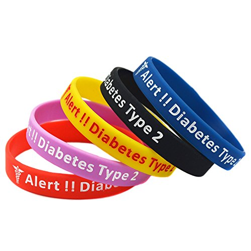 Type 2 Diabetes Bracelet Insulin Dependent Medical Alert ...