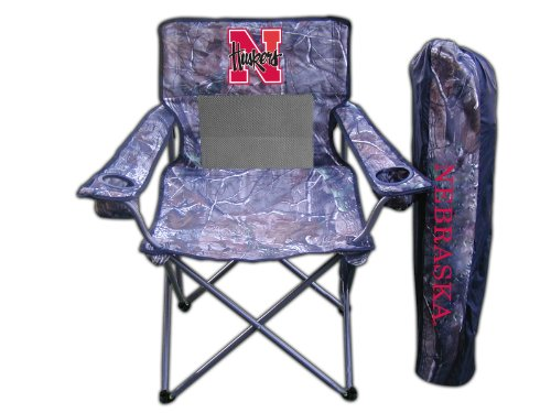Rivalry NCAA Nebraska Cornhuskers Realtree Camo Folding Chair