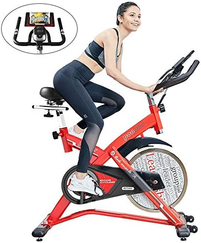 pooboo Exercise Bikes Belt Drive Indoor Cycling Bike with LCD Monitor for Home Cardio Workout Training Stationary Bike