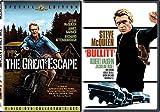 The Great Escape SPECIAL EDITION 2 Disc & Bullitt DVD Pack Steve McQueen Movie Bundle Double Feature Action Set