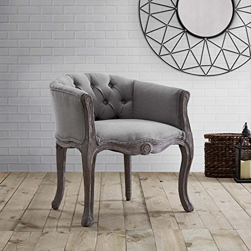 Modway Crown Dining Armchair, Fully Assembled, One, Light Gray (Chic Furniture)