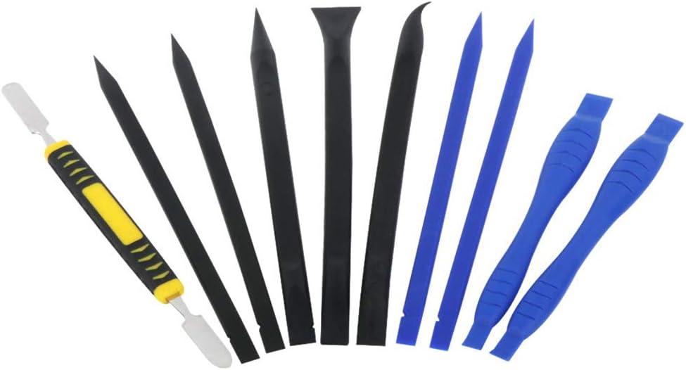 10 in 1 Metal Spudger Set Nylon Prying Opening Spudger Picks for Cell Phone Tablets Laptop Repair Disassemble Tool Kit Transporter-Galaxy