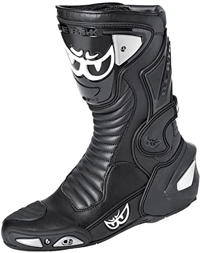 Berik Race-X Racing Bottes de moto 37 Bleu//Blanc//Noir