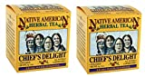 Chiefs Delight Native American Herbal Tea (2 Boxes), Berry Flavor