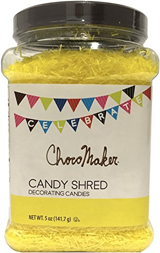 Swirl Shaker - ChocoMaker Candy Shred Sprinkles (Yellow, 5 Ounce Bulk Jar)