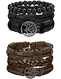 Life Bracelet for Men Women Tribal Leather Bracelet...