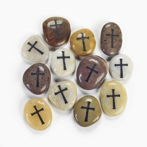 Cross Worry Stones (1 dz)