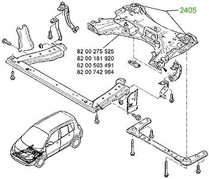 2405 Rear Body Bushing For Nissan Renault